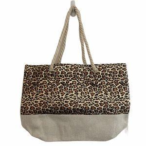 Leopard Shine Animal Print Twist Tote Bag